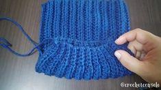 Gorro tejido con un rectángulo a crochet - Crochet con Sole