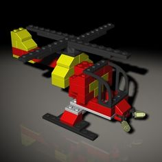 Lego Helicopter 3D Model - 3D Model