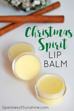 Celebrate the holidays this year with an all-natural homemade Christmas Spirit lip balm made with essential oil. These make great seasonal DIY gifts, too!