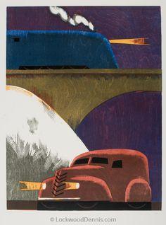 """Winter,"" 21x16, Edition of 35, 1989, Lockwood Dennis"