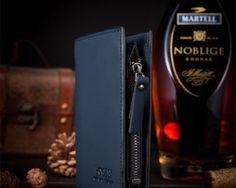 Kvalitná pánska kožená peňaženka BOGESI v modrej farbe