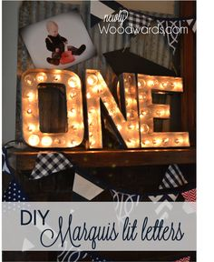 Make custom marquis lit letters  From Newlywoodwards