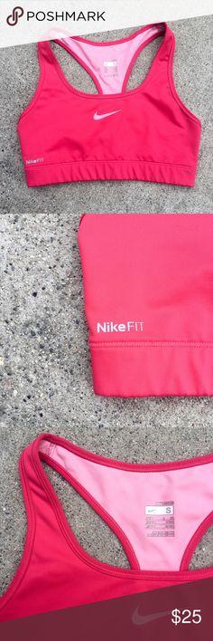 Nike Sports Bra Fuchsia Nike Sports bra. Minimal use. No signs of wear. Nike Intimates & Sleepwear Bras