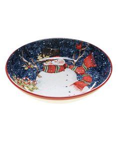 Look what I found on #zulily! Snowy Night Snowman Pasta Bowl #zulilyfinds