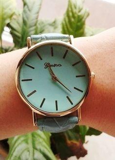 Kup mój przedmiot na #vintedpl http://www.vinted.pl/akcesoria/bizuteria/9910259-promocja-rewelacyjny-mietowy-zegarek-nowy-lato