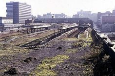 Birmingham Snow Hill 1976 | The derelict remains of the huge… | Flickr Birmingham City Centre, Old Abandoned Buildings, Old Train Station, British Rail, Great Western, Hill Station, Viking Age, West Midlands, Skyline