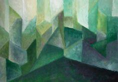 green corner abstract