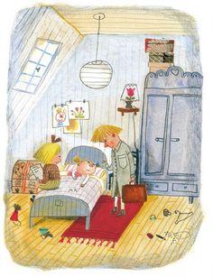 Illustrazione di Beatrice Alemagna per Lotta combinaguai: