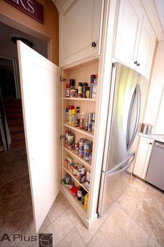 Doors beside built in fridge side cabinet fridge in for White thin man pantry cabinet
