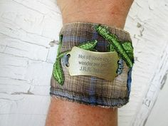 Not All Those Who Wander Are Lost Plaid Flannel Cuff by emmevielle
