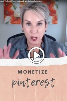 Pinterest isn't just for recipes, weddings, and crafts. In this video, I talk about an alternative purpose of Pinterest – how learning to monetize Pinterest can be a boon for your business. If you're a network marketer or affiliate marketer, Pinterest can help you attract prospects, sell products, and recruit team members. WATCH HERE: