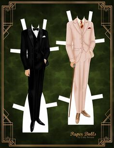 the great gatsby   paper dolls by cory* For lots of free paper dolls International Paper Doll Society #ArielleGabriel #ArtrA thanks to Pinterest paper doll collectors for sharing *