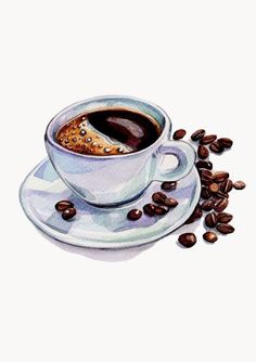 Holly Exley Illustrator: Illustrations for The Metro / Coffee Art / Coffee Shop Stuff Art And Illustration, Food Illustrations, Watercolor Illustration, Coffee Illustration, Watercolor Food, Watercolor Paintings, Portrait Paintings, Watercolors, Food Drawing