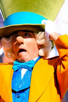 The Mad Hatter seems a bit flustered!
