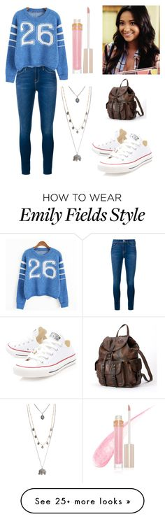 """""""Emily Fields"""" by boston-c on Polyvore featuring Frame Denim, Converse, Stila, Aéropostale, Frye, women's clothing, women, female, woman and misses"""