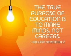 The true purpose of education