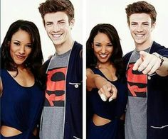 Westallen Grant Gustin (Barry Allen) and Candice Patton (Iris West). TheFlash