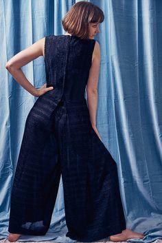 Georgie Keyloun Black Sheer V-neck Palazzo Pant Jumpsuit /