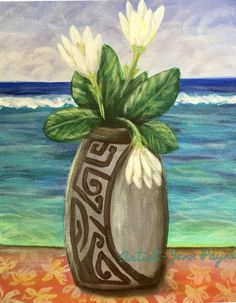Hawaiian Art, Hawaiian Islands, Beautiful Scenery, Pure Products, History, Painting, Hawaian Islands, Painting Art, Paintings