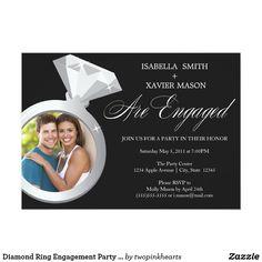 Diamond Ring Engagement Party Invite (Photo) Diamond Ring Engagement Party Invite