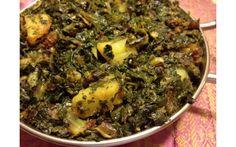 Dry Potato & Spinach Curry (Sag Aloo)