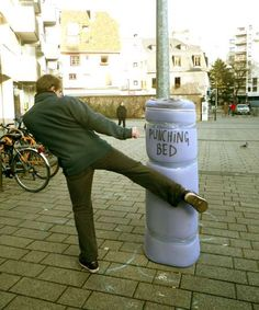 Probably be a lot less stress in the world if we had padded areas to kick & punch every so often.....Hacked Public Spaces - Florian Riviere Creates Spontaneous Interactive Everyday Environments (GALLERY)