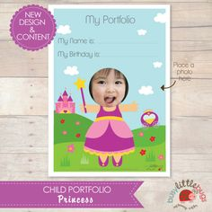 Child Portfolio  Little Princess AUTOMATIC by BUSYLITTLEBUGSshop, $8.95