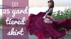 Here's the easiest and cheapest DIY 25 yard skirt! Less sewing, less fabric, but you'll still get the 25 yard volume! Perfect for gypsy & ATS belly dancing.
