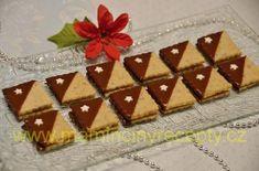 Ořechové čtverečky Czech Recipes, Christmas Cookies, Waffles, Holiday Decor, Breakfast, Advent, Foods, Drinks, Fit