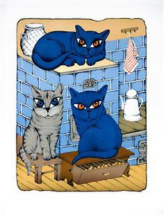František Pon - Na peci Cat Silhouette, Donald Duck, Disney Characters, Fictional Characters, Cats, Silhouettes, Gatos, Silhouette, Fantasy Characters