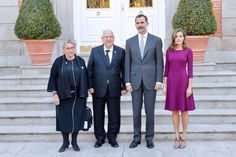 King Felipe and Queen Letizia Receive Israel President at The Royal Palace - Lunch at the Zarzuela
