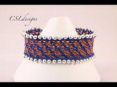 Micro macrame waves bracelet - YouTube