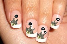 Totoro 04 Nail Art Decals Japan Anime Waterslide by BubblingSpace