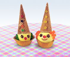 Yummy, funny craft project for kids! Make ice cream cone clowns – it's easy!
