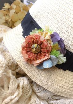 """3-pc 11/"""" CHECKERED-ROSE FLOWER-PIN-BACK-Appliques"""