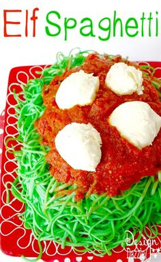 Business Cookware Ought To Be Sturdy And Sensible Elf Spaghetti Enjoy A Fun Dinner With The Family With Green Noodles And Marinara Sauce. Remember The Mozzarella Snowballs Design Dazzle Christmas Eve Dinner, Grinch Christmas, Christmas Cooking, Christmas Goodies, Christmas Treats, Holiday Treats, Kids Christmas, Holiday Fun, Holiday Recipes