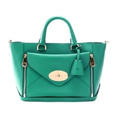Trapez Bag Leather Green