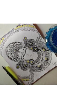 Mandala Drawing, Mandala Art, Creative And Aesthetic Development, Sketch Painting, Doodles, Drawings, Cards, Art Ideas, Sketches