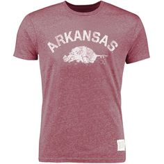Arkansas Razorbacks Original Retro Brand Vintage Tri-Blend T-Shirt - Cardinal - $23.99