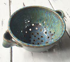 Ceramic Berry Bowl in Handmade, Pottery Berry Bowl, Ceramic Colander, Ceramic Berry Basket by BungalowSPC on Etsy https://www.etsy.com/listing/237788774/ceramic-berry-bowl-in-handmade-pottery