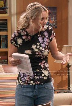 "The Big Bang Theory ""The Collaboration Contamination"" Fashion: Season 11 Episode 5 Fashion Tv, Girl Fashion, Big Bang Theory Penny, Fandom Outfits, Kaley Cuoco, Classy Outfits, Bigbang, Boyfriend Jeans, Ideias Fashion"