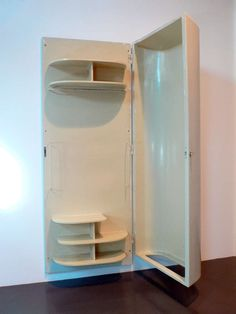 Closet by Alvar Aalto for Paimio Sanatorium, 4 Alvar Aalto, White Wall Paint, White Walls, Modern Cabinets, Architecture Art, Industrial Design, Furniture Design, Furniture Storage, Design Elements
