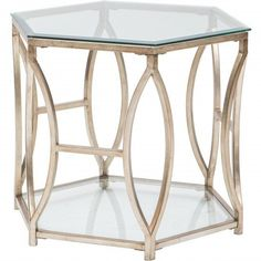 Nevelson Hexagonal Side Table - Furniture - Accent Tables - End Tables