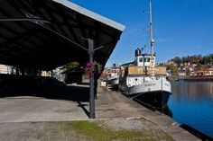 """The canal boat's """"Skarfoss"""" & """"Victoria"""" docked in Skien. Photo By. Knut Erik Blom"""