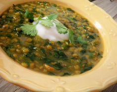 Curried Lentil And Spinach Soup Recipe - one pinner said: this one is a winner. I will definitely bump up the spices next time and am glad I used veg broth in place of water. Korma, Biryani, Best Soup Recipes, Healthy Recipes, Chili Recipes, Family Recipes, Healthy Options, Amazing Recipes, Healthy Snacks