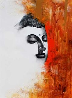 Buy Orange-Red acrylic Painting by artist Narayan Shelke on Canvas, Religious based on theme . Size is 48 × 36 × 0 in. Shipping is from India. Authenticity certificate will be provided for original artworks. Budha Painting, Krishna Painting, Namaste, Buddha Artwork, Indian Art Paintings, Canvas Paintings, Canvas Artwork, Abstract Paintings, Watercolor Paintings