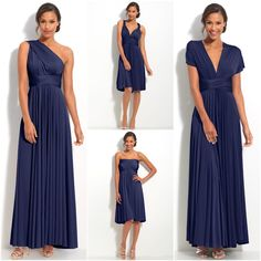 Convertible dresses like these from Two Birds are a life saver for a bridal party that comes in all shapes and sizes:)