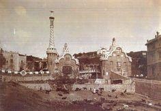 Imagenes antiguas de Barcelona... Parque Guell
