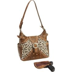Brown Western-Style Concealed Carry Handbag  #rt #leather #fashionaccessories #fashionhandbag #purses #fashion #share #handbags
