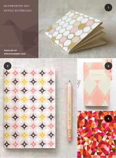 Beautiful paper notebooks, journals, cards, etc from Discover Paper